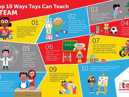 Top 10 Ways Toys Can Teach STEAM