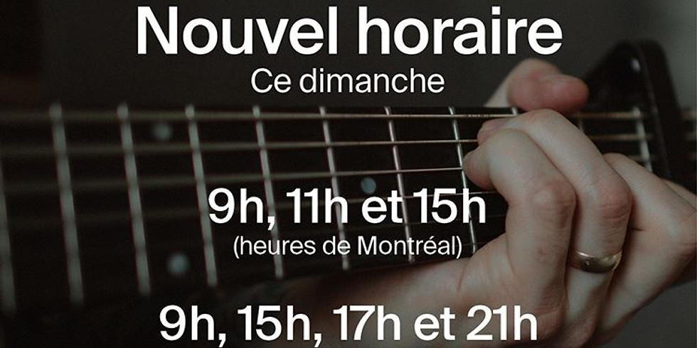 Culte en ligne - Eglise La Chapelle Montréal