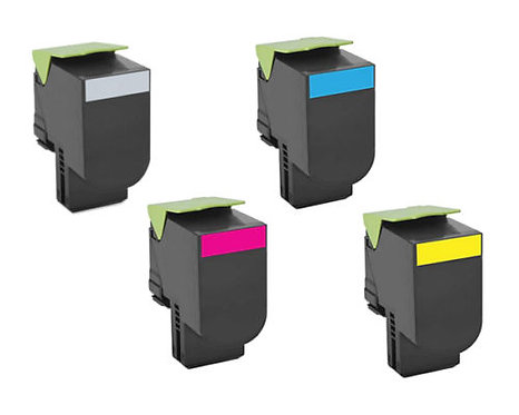 Lexmark CS510 Extra High Yield 8K/4K Toner Cartridge Set 701XK 701XC 701XM 701XY