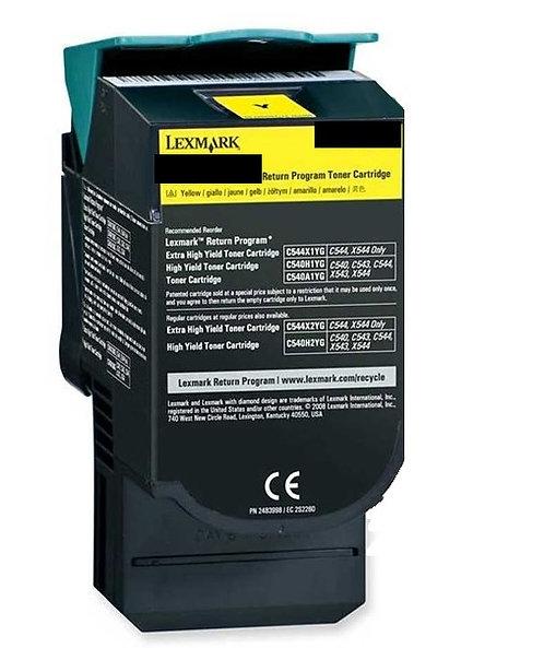 Lexmark C540 Yellow High Yield 2K Toner C540H1YG