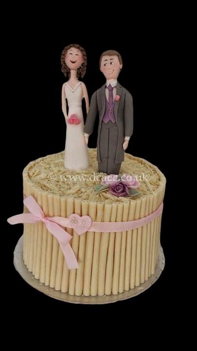 Bride And Groom Character Wedding Cake Jpg
