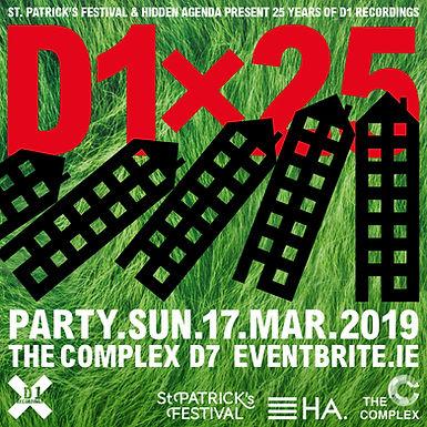 St. Patrick's Festival & Hidden Agenda present 25 YEARS OF D1 RECORDINGS