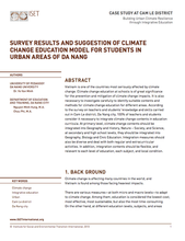 Survey results and Suggestion of Climate