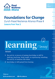 Foundation for Change Zurich Flood Resilience Alliance Phase II - Lessons from Year 2
