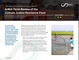 A Mid-Term Review of the Climate Justice Resilience Fund