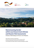 Mainstreaming Gender within Local Government Climate and Disaster Risk Assessments A Review of Methodology and Practice in the Philippines