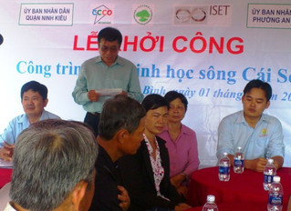 Groundbreaking Ceremony of Biological River Embankment at Cai Son Riverbank, Can Tho City (KÈM BẢN D