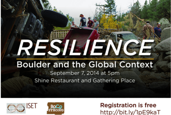 RESILIENCE BOULDER AND THE GLOBAL CONTEXT1