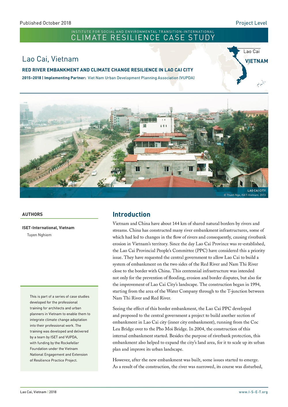 Case Study: Red River Embankment and Climate Change Resilience in Lao Cai City