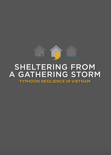 Sheltering from Gathering storm Typhoon