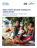 POST EVENT REVIEW CAPABILITY (PERC) STUDY Learning from the 2020 Floods in Faridpur District, Bangladesh to build resilience
