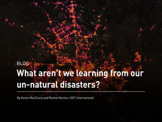 What aren't we learning from our un-natural disasters?