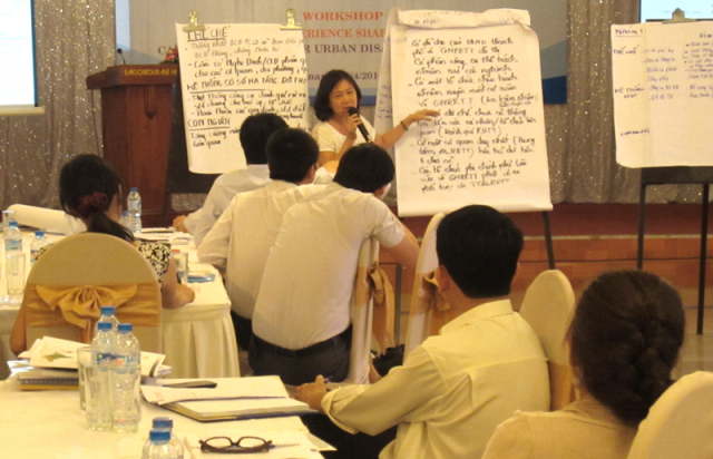 SHARPENING OUR FOCUS ON URBAN DISASTER RISK REDUCTION1