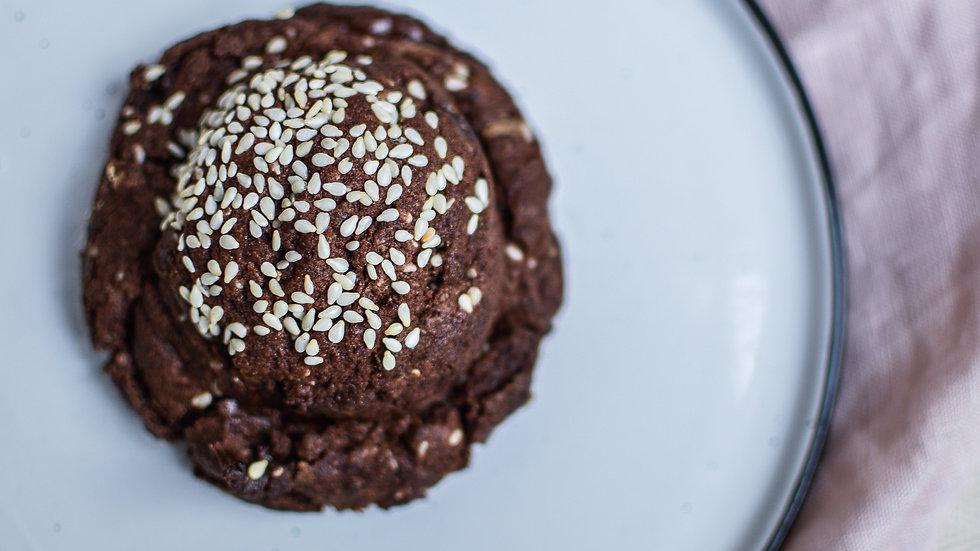 SESAME, TAHINI + CHOCOLATE COOKES