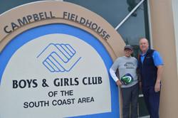 Vern West & Bill Miller at Boys & Girls Club in San Clemente (2018)