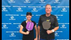Pam Stark & Bill Miller of SCPA in Pickleball Tournament at Boys & Girls Club of Southern Orange Cou