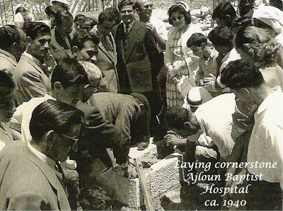 Laying Cornerstone for the Hospital