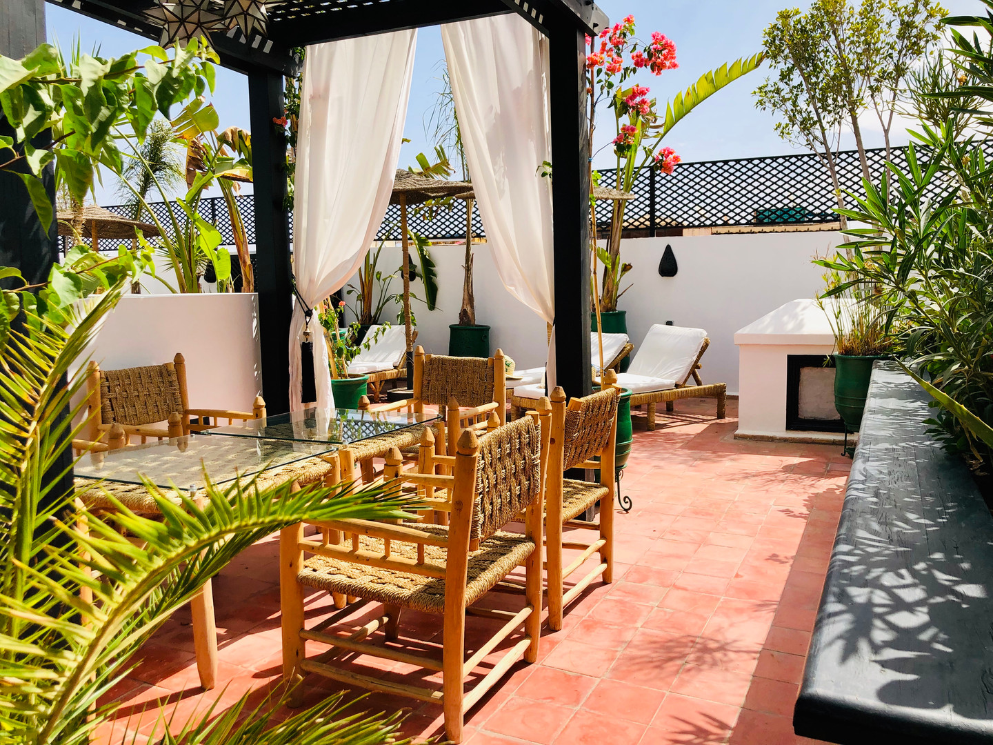 Rooftop Riad Chafia Marrakech boutique hotel riad marrakesh morocco
