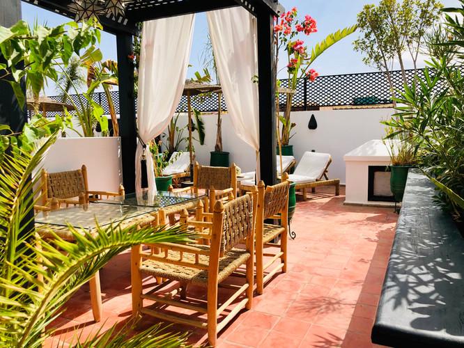 Rooftop Riad Chafia Marrakech boutique hotel riad marrakesh morocco
