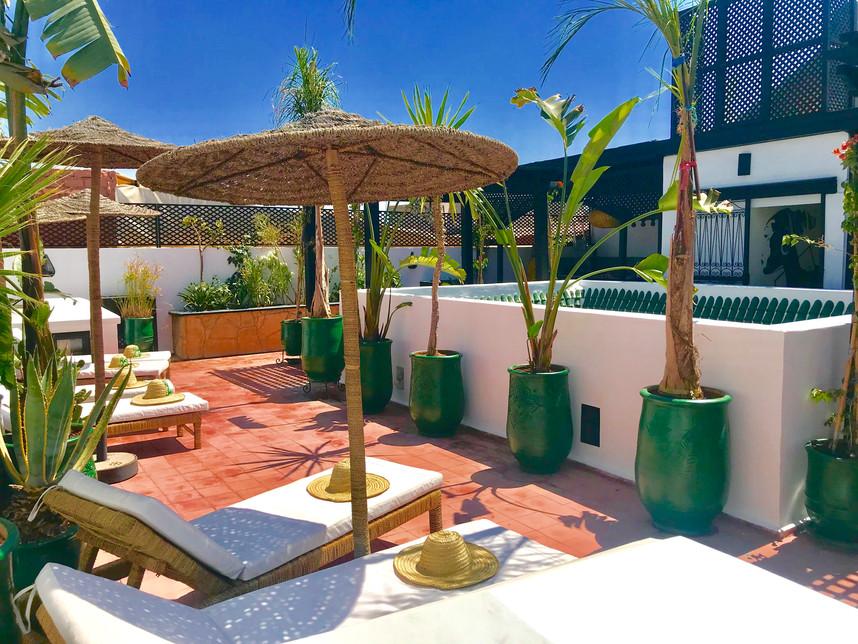 Terrasse Riad Chafia Marrakech boutique hotel riad marrakech maroc