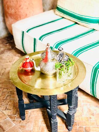 Moroccan mint tea Riad Chafia Boutique Hotel Riad Marrakesh