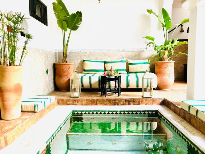 Inside Pool Riad Chafia Boutique Hotel Marrakech