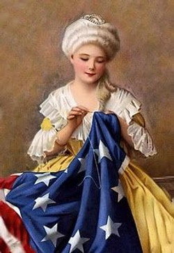 Betsy Ross sewing flag, 1792