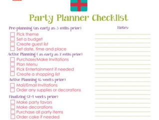 11 Things You Need To Know About Planning the Perfect Party...Or Not :)