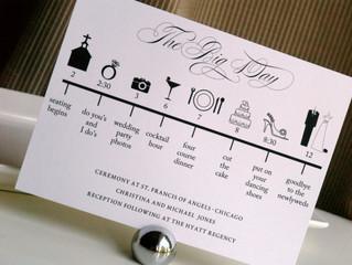Wedding Day Time Line...Where Do I Start?
