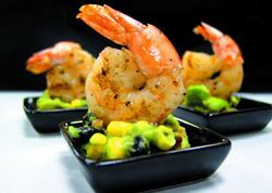 shrimp an corn and alvocado
