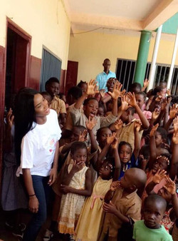 Aissata Diallo with the children