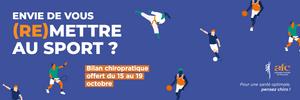 Bilan chiropratique offert du 15 au 19 octobre 2018