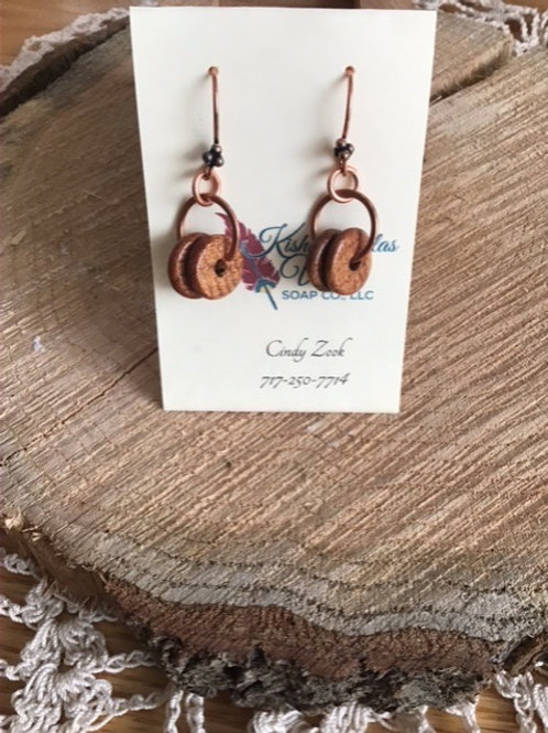 Copper & Wood Earrings
