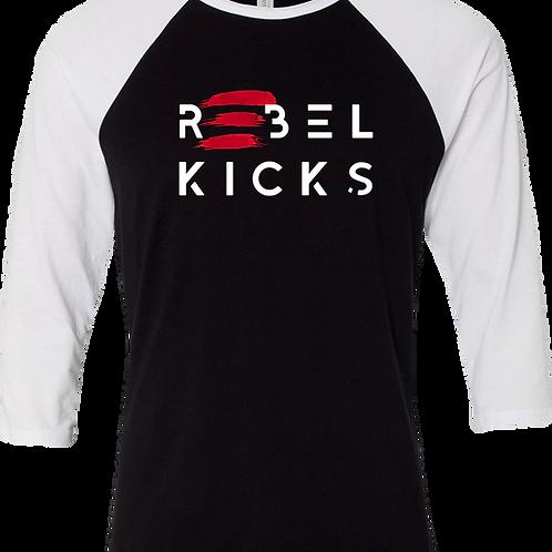 Baseball Tee - Logo (Black With White)
