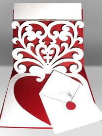 Eknzigartige Glückwunschkarte zur katholischen Trauung