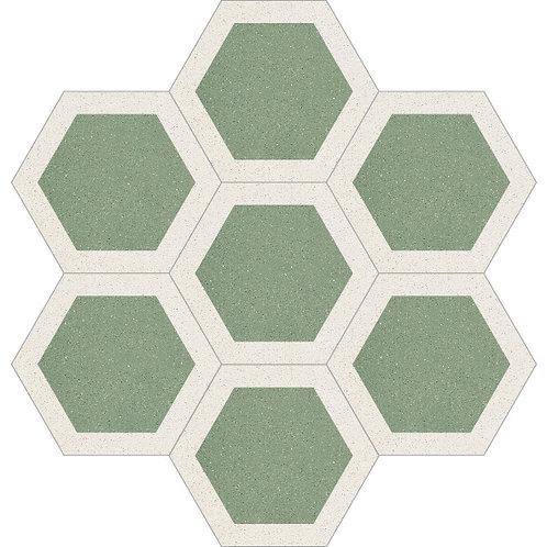 Hexagon Cement Tile 20x23-05