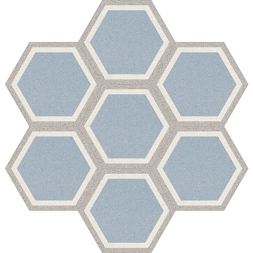Hexagon Cement Tile 20x23-02