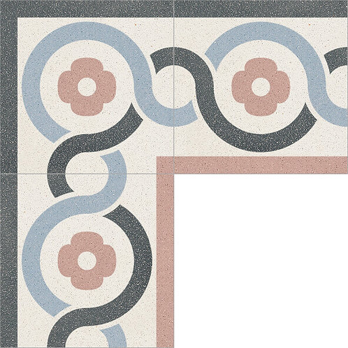 Cement Border Tile 20x20-14