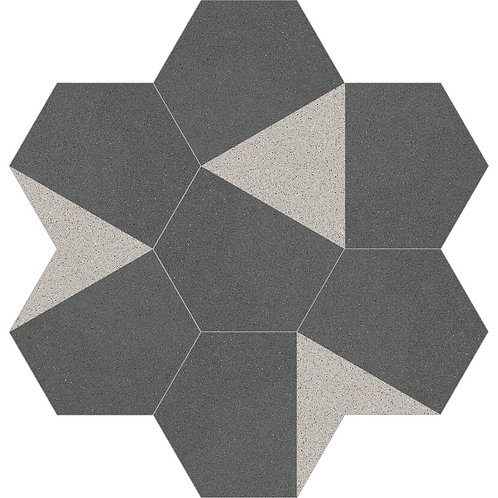 Hexagon Cement Tile 30x35-09