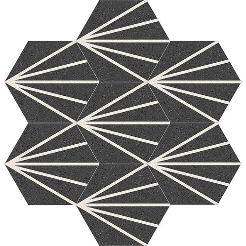 Hexagon Cement Tile 30x35-08