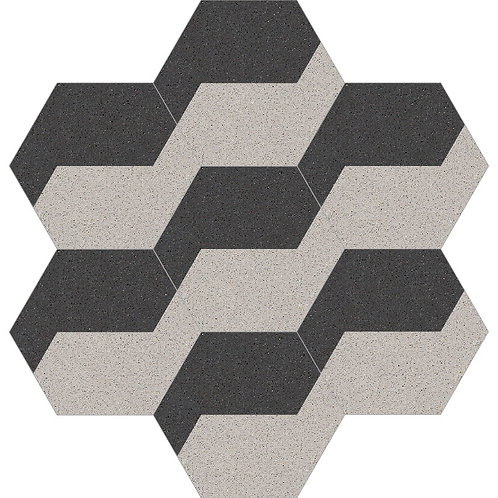 Hexagon Cement Tile 30x35-10
