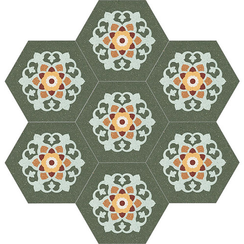 Hexagon Cement Tile 30x35-02