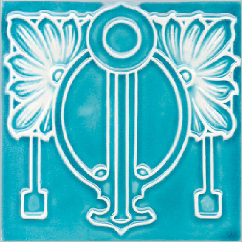 Art Nouveau Kitchen Ceramic Tile