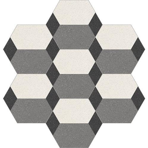 Hexagon Cement Tile 20x23-09