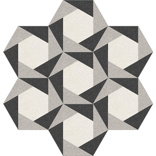 Hexagon Cement Tile 20x23-33