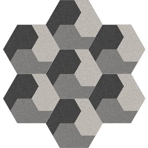 Hexagon Cement Tile 20x23-19