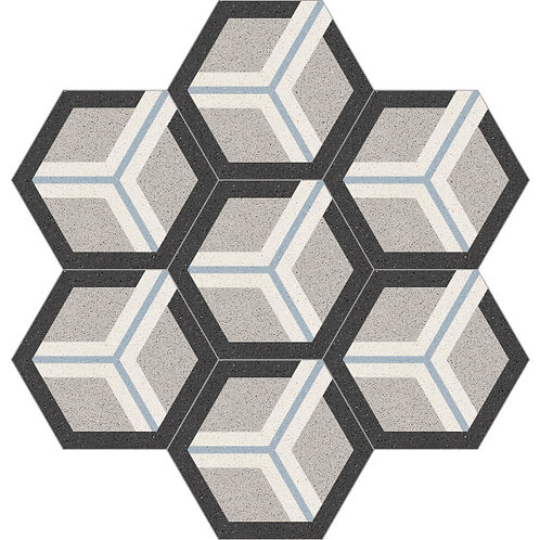 Hexagon Cement Tile 20x23-16