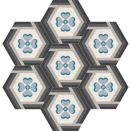 Hexagon Cement Tile 30x35-05