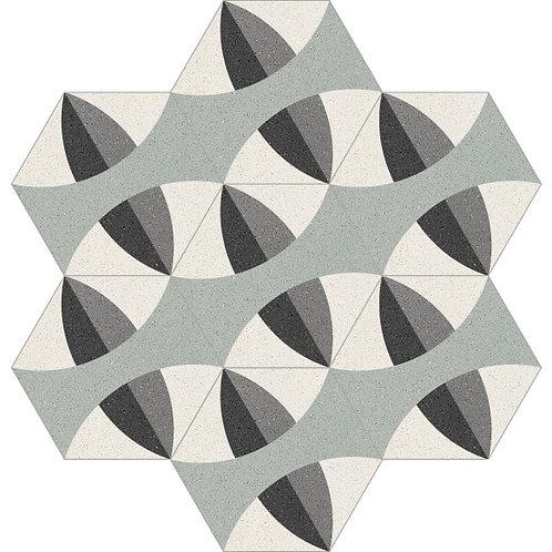 Hexagon Cement Tile 20x23-27