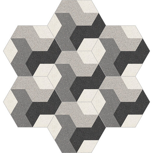 Hexagon Cement Tile 20x23-13